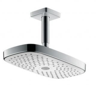 Hlavová sprcha Hansgrohe Raindance Select E strop včetně sprchového ramena bílá/chrom 27384400 chrom bílá
