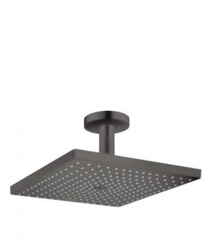 Hlavová sprcha Hansgrohe Raindance strop včetně sprchového ramena kartáčovaný černý chrom 26250340 černá kartáčovaný černý chrom