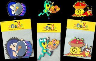 HM STUDIO Krtek a kamarádi-dekorace - různé druhy mix barev