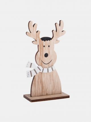 Hnědá dřevěná vánoční dekorace Dakls