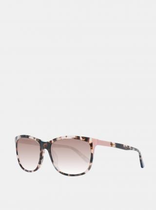 Hnědé dámské vzorované sluneční brýle GANT dámské hnědá