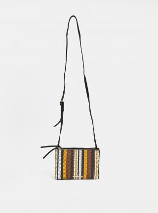 Hnědo-černá pruhovaná crossbody kabelka Bessie London dámské