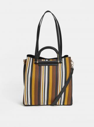 Hnědo-černá pruhovaná kabelka Bessie London dámské