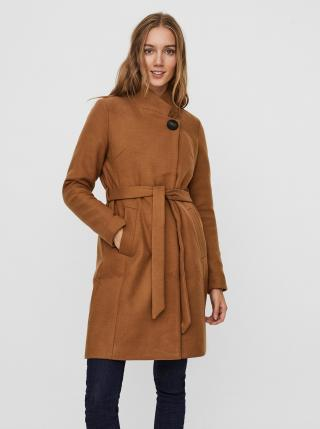 Hnědý kabát VERO MODA dámské hnědá M