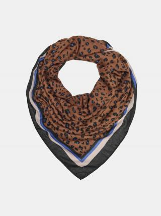 Hnědý vzorovaný šátek ONLY dámské hnědá