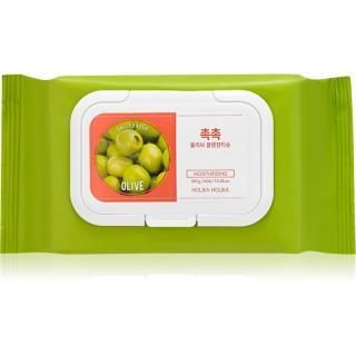Holika Holika Daily Fresh Olive odličovací ubrousky k odstranění odolného a voděodolného make-upu 60 ks dámské 60 ks