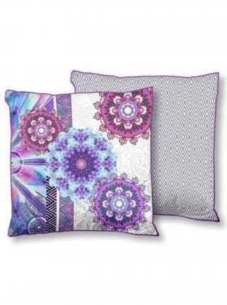 Home barevný dekorativní polštář s výplní Hip Jayanti 48x48cm fialová