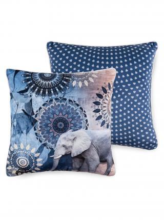 Home dekorativní polštář s výplní Hip Bjirke 48x48 modrá