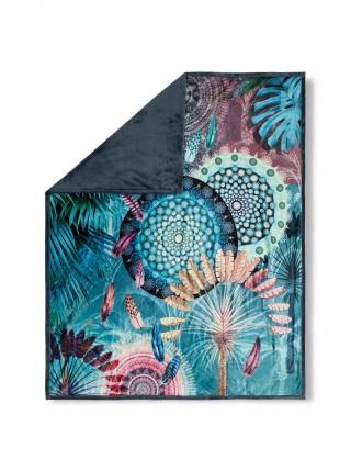Home oboustranná deka Hip Kanya 130x160 cm fialová