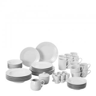 Homeware KOMBINOVANÝ SERVIS, 50dílné, porcelán - bílá