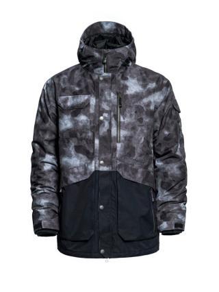 Horsefeathers BARNETT gray camo zimní pánská bunda pánské šedá S
