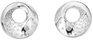 Hot Diamonds Něžné stříbrné náušnice s diamanty Quest DE650 dámské