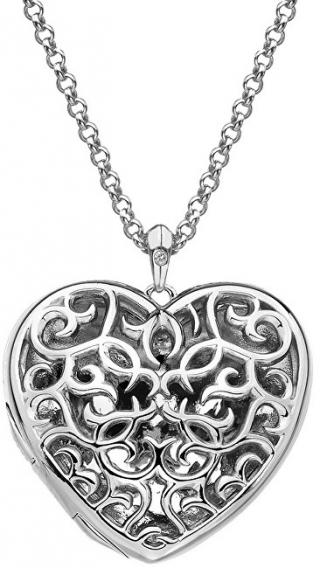 Hot Diamonds Přívěsek Hot Diamonds Large Heart Filigree Locket DP669