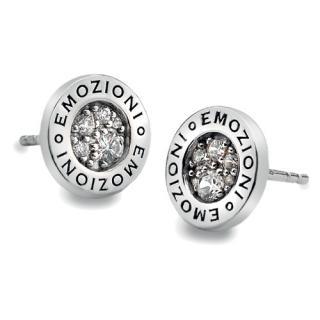 Hot Diamonds Stříbrné náušnice Hot Diamonds Emozioni Pianeta Clear DE402