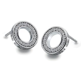 Hot Diamonds Stříbrné náušnice Hot Diamonds Emozioni Saturno Clear DE408