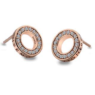 Hot Diamonds Stříbrné náušnice Hot Diamonds Emozioni Saturno Rose Gold DE409