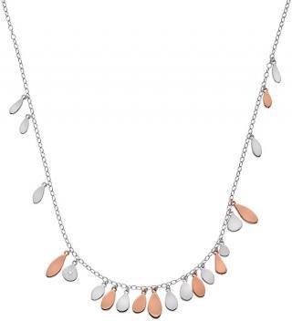 Hot Diamonds Stříbrný bicolor náhrdelník s diamantem Monsoon DN139