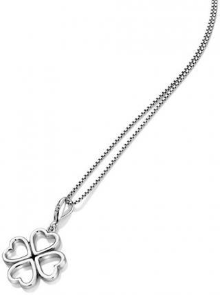Hot Diamonds Stříbrný čtyřlístkový náhrdelník s diamantem Lucky in Love DP768