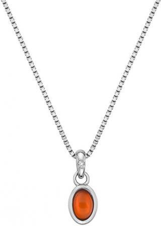 Hot Diamonds Stříbrný náhrdelník pro narozené v červenci Birthstone DP760