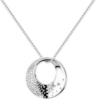 Hot Diamonds Stříbrný náhrdelník s diamantem Quest DP786