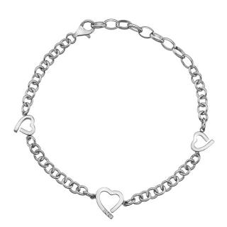 Hot Diamonds Stříbrný náramek Hot Diamonds Love DL564 dámské