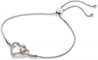 Hot Diamonds Stříbrný náramek s pravým diamantem Flora DL590 dámské
