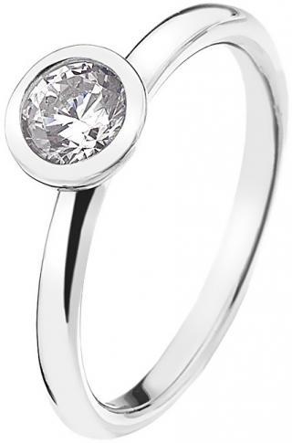 Hot Diamonds Stříbrný prsten Emozioni Scintilla Clear Innocence ER018 55 mm