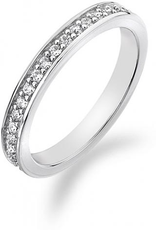 Hot Diamonds Stříbrný prsten s krystaly Emozioni Infinito ER007 51 mm
