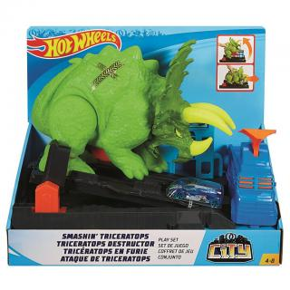 Hot Wheels city posaď Triceratopse