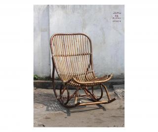 Houpací židle Krémová