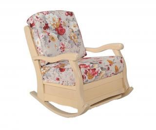 Houpací židle Roma Amaro Milk Classic Krémová