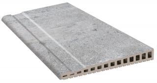 Hrana Přelivová Exagres Opera silver 28x66,5 cm mat OPERABD66SI šedá silver