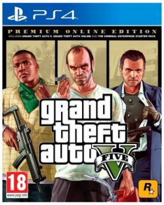 Hry na Playstation ps4 hra - grand theft auto v premium edition
