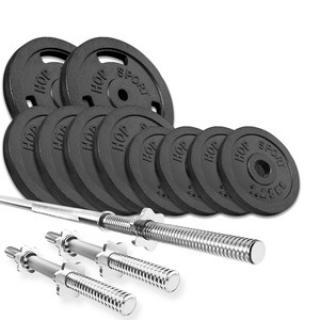 HS Nakládací činkový set Strong 39kg