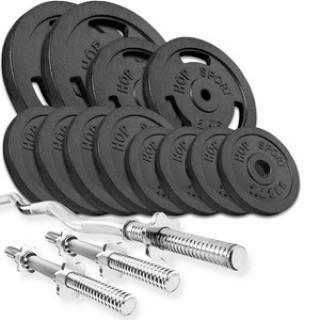 HS Nakládací činkový set Strong 57kg