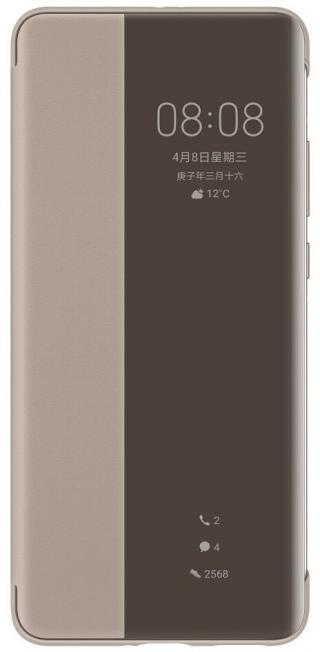 Huawei Original S-View flipové pouzdro pro Huawei P40 Pro khaki