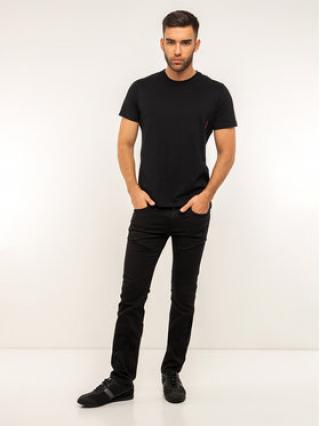 Hugo Jeansy Slim Fit 50417168 Černá Slim Fit pánské 36_34
