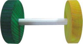 Huhubamboo dřevěná hračka - barevné činky