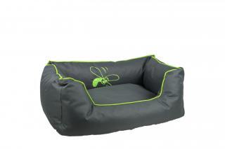 Huhubamboo kanape L šedivo zelené