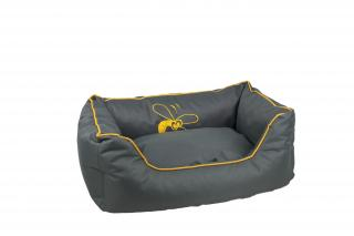 Huhubamboo kanape L šedivo žluté