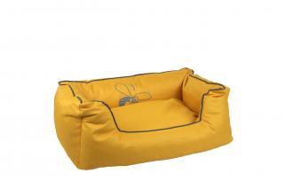 Huhubamboo kanape L žluto šedé