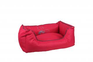 Huhubamboo kanape M červeno šedé