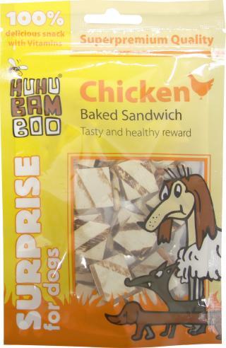 Huhubamboo kuřecí sandwich pečený 75g