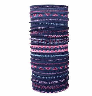 Husky  Printemp UNI, pink triangle stripes multifunkční šátek UNI