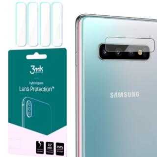 Hybridní sklo 3mk Lens ochrana kamery pro Samsung Galaxy S10, 4ks