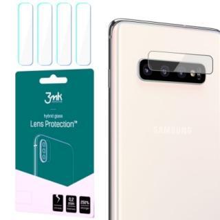 Hybridní sklo 3mk Lens ochrana kamery pro Samsung Galaxy S10 Plus, 4ks