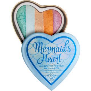 I Heart Revolution Mermaids Heart rozjasňovač na oči a tvář 10 g dámské 10 g