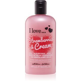 I love... Strawberries & Cream sprchový a koupelový krém 500 ml dámské 500 ml