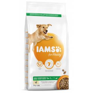 Iams dog adult large chicken 3kg