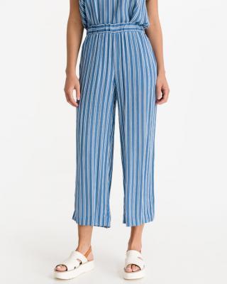 ICHI Marrakech Kalhoty Modrá Bílá dámské S